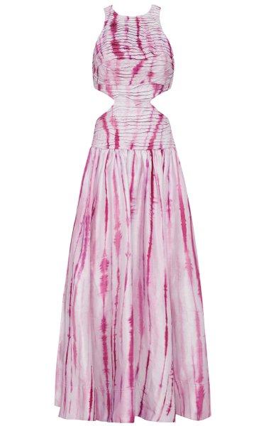 Introspect Ripple Cut Out Midi Dress