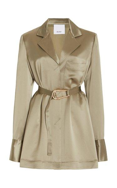 Esmond Satin Mini Shirt Dress