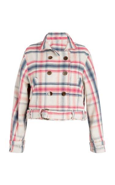 Domino Woven Plaid Jacket