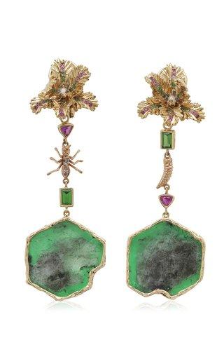 Convertible 18K Gold Multi-Stone Earrings