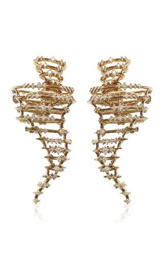 Tornado 18K White Gold Diamond Earrings