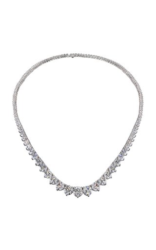 Temptation 18K White Gold Diamond Necklace