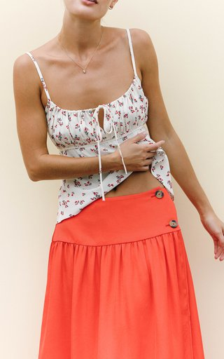 Silvina Floral Crepe Camisole Top