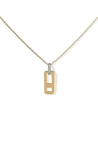 DNA Small 18K White and Yellow Gold Diamond Necklace
