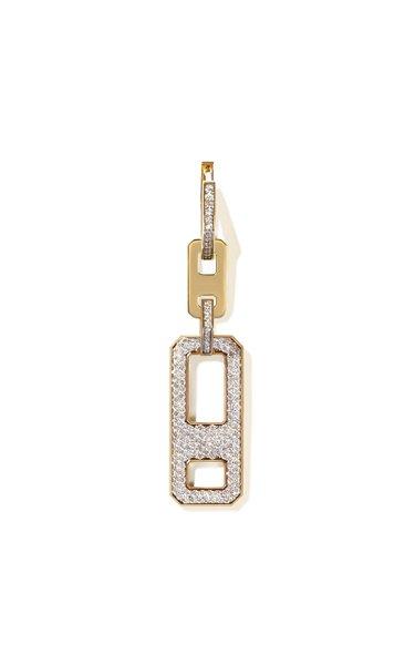 DNA 18K Yellow Gold Diamond Single Earring