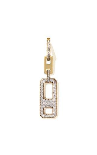 DNA 18K Yellow Gold Diamond Earring