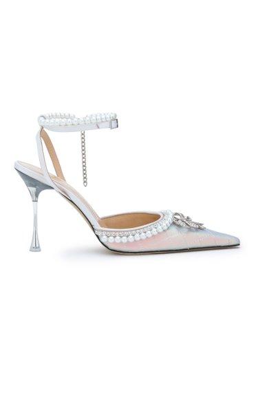 Iridescent Bow Of Elizabeth High Heels