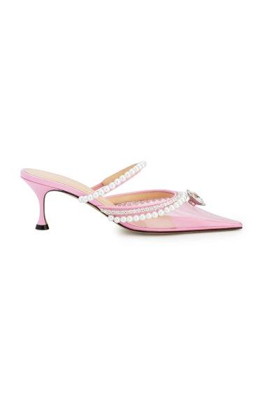 Diamond And Pearls Pvc Kitten Heels