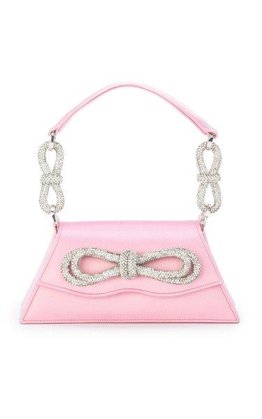 Samantha Double Bow Satin Mini Handbag