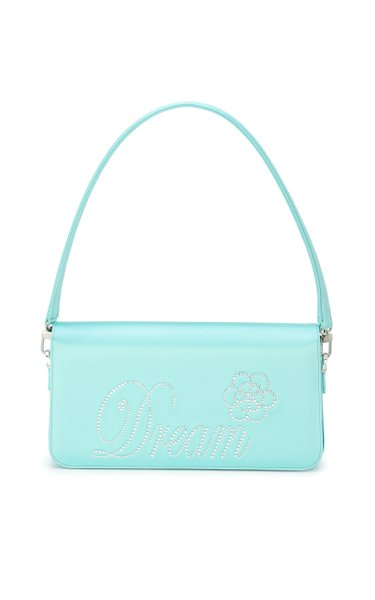 Dream Crystal Satin Baguette Bag