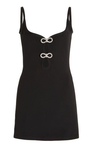 Bow-Embellished Mini Dress