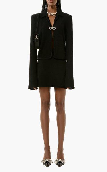 Bow-Embellished Jacket