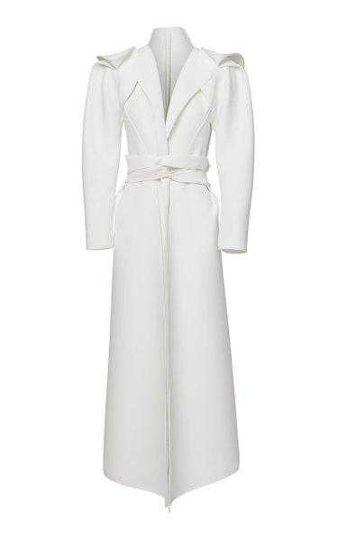 Orion Draped Shoulder Midi Dress Coat