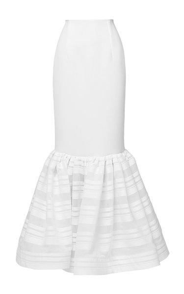 Hydra Cotton-Blend Maxi Skirt