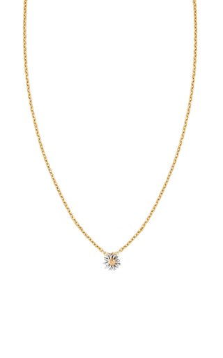 Daisy 14K Yellow and White Gold Necklace