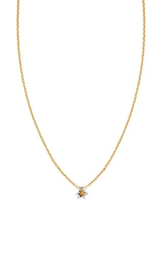 Lily 14K Yellow and White Gold Necklace