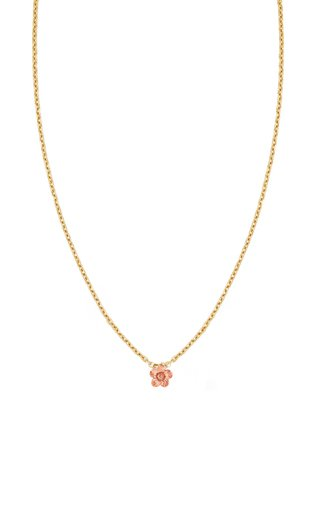 Petunia 14K Yellow and Rose Gold Necklace