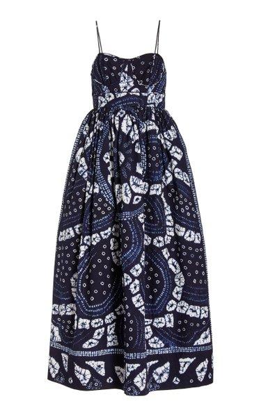 Mariza Cotton Midi Dress