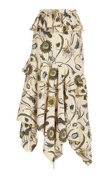Ivette Cotton Midi Skirt
