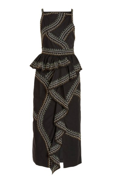Sylvan Cotton Midi Dress