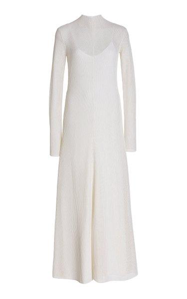 Silk And Cotton-Blend Mesh Maxi Dress