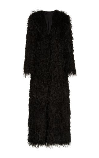 Ostrich Feather Full Length Coat