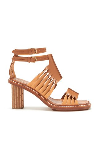 Madiera Twisted Contrast Leather Sandals