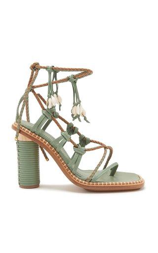 Cora Seashell Leather Sandals