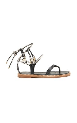 Hanalei Seashell Leather Sandals