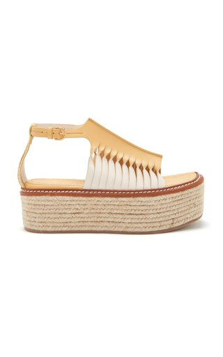 Valencia Twisted Contrast Leather Sandals