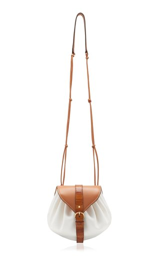 Paloma Ruched Leather Crossbody
