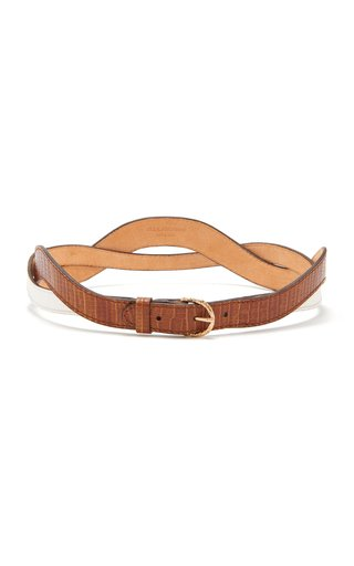 Wave Leather Belt