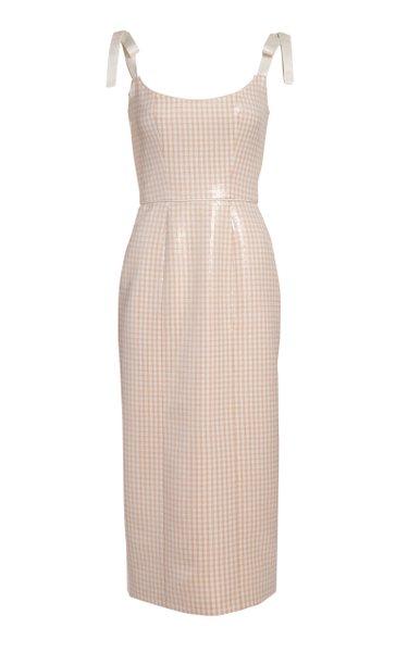 Imogen Sequined Gingham Midi Dress