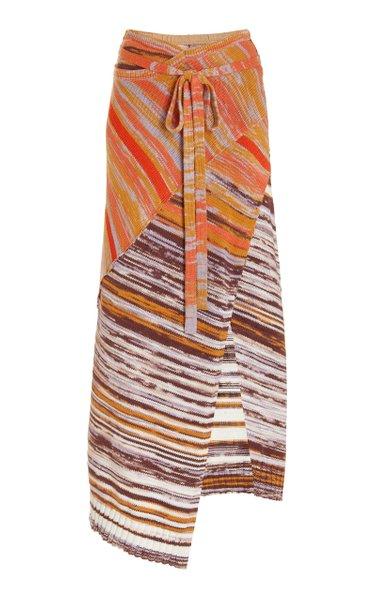 Raelle Space Dye Cotton-Wool Midi Skirt