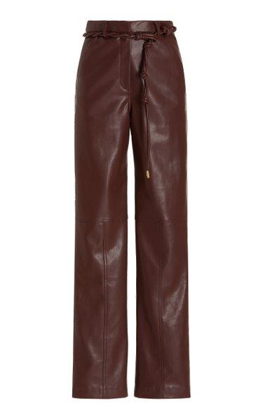 Dasha Vegan Leather Straight-Leg Pants