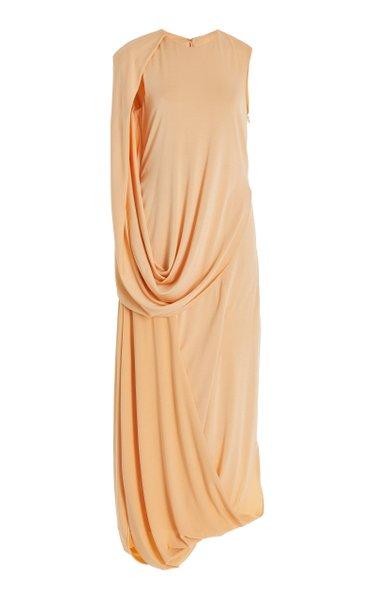 Roxi Draped Jersey Midi Dress