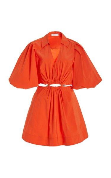 Aulora Cotton-Blend Mini Dress