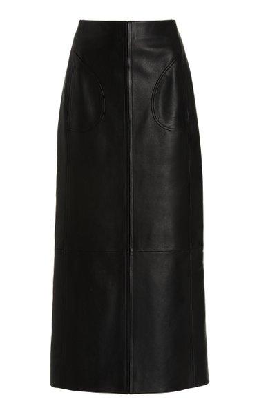 Joli Leather Maxi Skirt