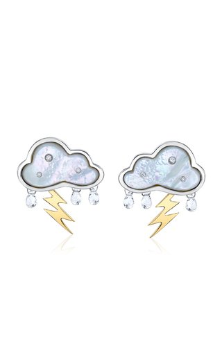 Petite Stormy Day Sterling Silver Multi-Stone Earrings