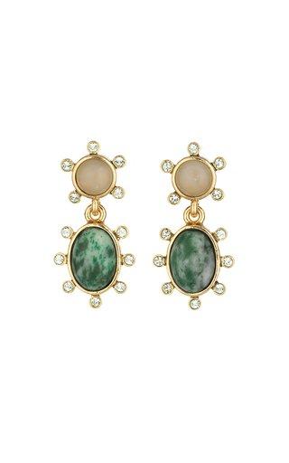 14K Gold-Plated Dot Pendant Earrings