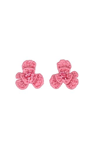 Raffia Rustic Flower Earrings
