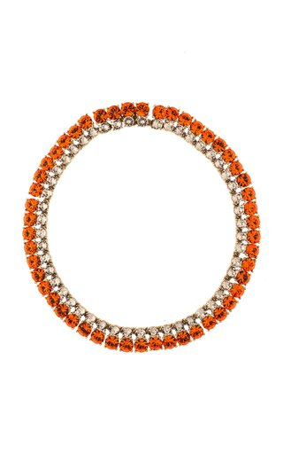 14K Gold-Plated and Crystal Collar Necklace