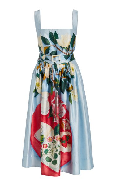 Painted Tablescapes Mikado Tank Dress with Belt