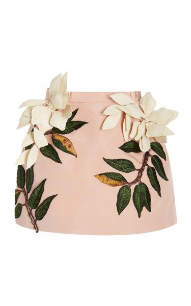 Magnolia Petals & Threadwork Leaves Skirt