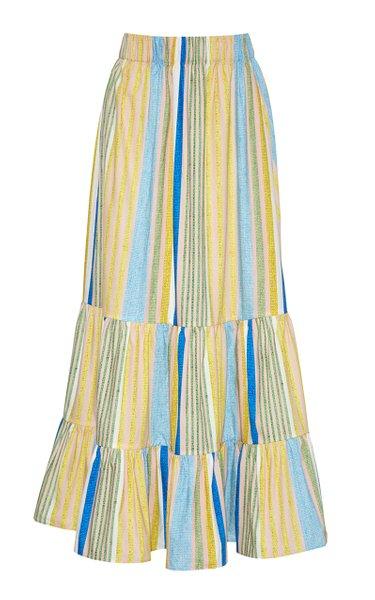 Chase Cotton Poplin Midi Skirt