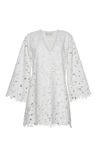 Annabelle Cotton Eyelet Mini Dress