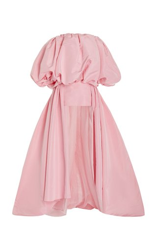 Off-The-Shoulder Silk Mini Dress