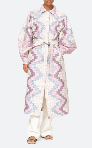 Ida Print Quilted Cotton Coat