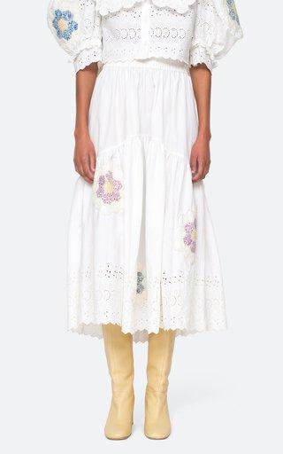 Violette Patch Group Cotton Midi Skirt