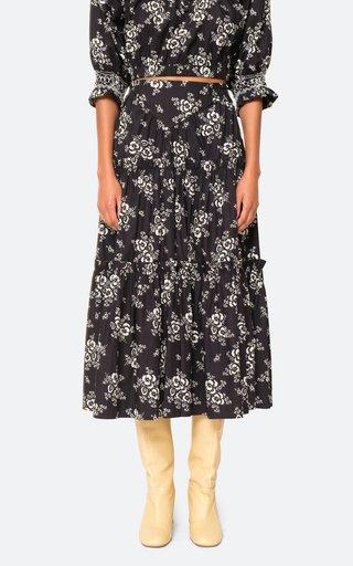 Alessia Tiered Cotton Maxi Skirt